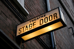 Illuminated stage door sign
